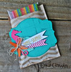 Pink Buckaroo Designs: Yippee- Skippee! Treat Pouch made with E-Cutter and MDS