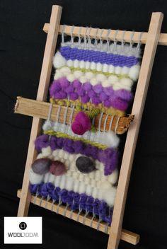 My taste - Mi gusto - Hand woven wall hanging // weaving // telar decorativo made by WooL LooM - www.facebook.com/WooLLooM