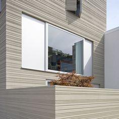 raked stucco Stripe House Hamburg