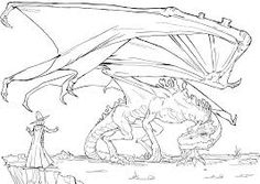 Image result for dragon line drawing