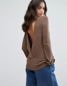 6352978959e0e Buy Dark Brown NYTT Long sleeve top for woman at best price.