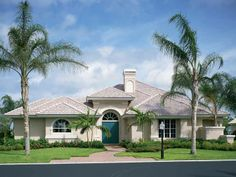 Home Plans HOMEPW08969 - 3,744 Square Feet, 4 Bedroom 3 Bathroom Mediterranean Home with 3 Garage Bays