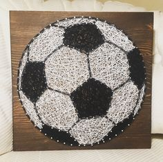 Soccer Ball String Art, Sports- order from KiwiStrings on Etsy! www.kiwistrings.etsy.com