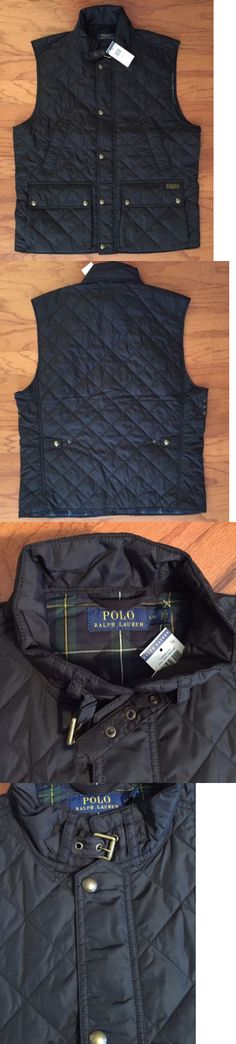 Vests 15691: Nwt $225 Polo Ralph Lauren Men S Black Diamond Quilted Vest Fully Lined Size Lg -> BUY IT NOW ONLY: $79.5 on eBay!