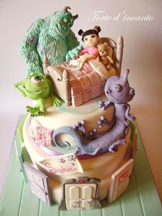 Monsters Inc. Cake Art – For all your cake decorating supplies, please visit cra… Monsters Inc. Pretty Cakes, Cute Cakes, Beautiful Cakes, Amazing Cakes, Amazing Art, Crazy Cakes, Unique Cakes, Creative Cakes, Creative Art