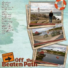'Off the Beaten Path' digital scrapbooking layout by Rosemary Siewert at Happy to Create #happytocreate #digiscrap