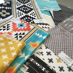Sneak peak of Four Corners Fabric Collection designed by Simple Simon & Co. coming soon in cotton and jersey knit! #simplesimon #rileyblakedesigns #fourcorners