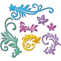 Karten-Kunst - Stempel- und Scrapbook-Shop - Spellbinders Shapeabilities - Floral Flourishes