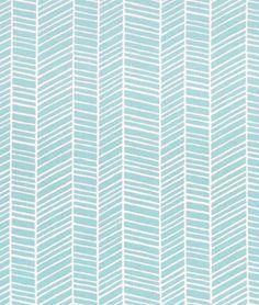 Joel Dewberry Herringbone Pond Fabric - $8.9   onlinefabricstore.net