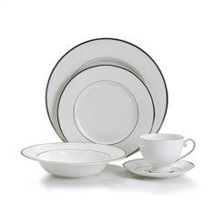 Amazon.com | Mikasa Cameo Platinum 40-Piece Dinnerware Set, Service for 8, White: Dinnerware Sets