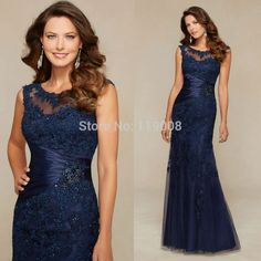 Cheap Evening Dresses, Buy Directly from China Suppliers:	New Arrival 2016 Vestido Longo Navy Blue Lace Mother Of The Bride Dresses Long Mermaid Evening Dress Evening Party Gown