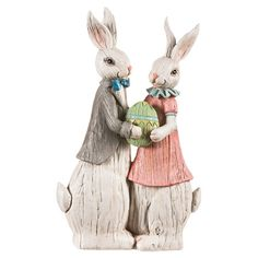 Pair of rabbits to display for a cheerful companion for your Easter brunch table.