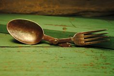 antique English camping silverware FOLDING by LettuceTurnipandPea, $20.00