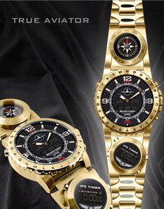 Steam Gauge True Aviator Watch - Scheyden True Aviator