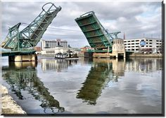 BRIDGES UP II joliet il; I walked across this bridge to find Heather. Joliet