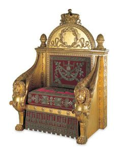 Napoleon's throne © Les Arts Décoratifs, Paris, photo Jean Tholance