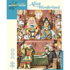 Alice in Wonderland is a 300 piece jigsaw puzzle from Pomegranate. Finished puzzle measures x Jigsaw features artwork by Sir John Tenniel (English, illustrations pulled from Alice's Adventure's in Wonderland by Lewis Carroll.