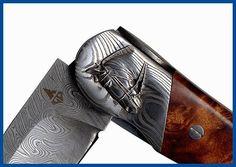 Couteau d'art collection damas cheval