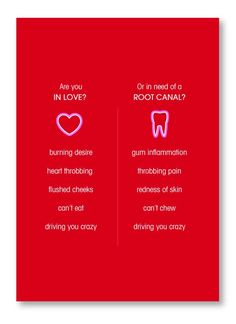 VALENTINES DAY!!!  Dental humor :)  If you don't know the difference, Morrison Dental Group can help you out!  :) #MorrisonDentalGroup #WilliamsburgVADentist