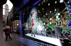 #tbt Barneys holiday windows -- 2012 (electric holiday with Disney)