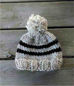 Toddler Rugby Hat By Jennifer Dickerson The Toddler Rugby Hat is a super warm and quickly knit hat for little ones with bulky yarn and l...