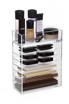 This combination organizer is perfectly designed for the makeup palette junkie! It features seven slots that can hold all types of palettes, from Urban Decay Naked to Anastasia Beverly Hills Contour K