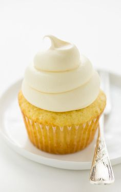 Perfect One Bowl Vanilla Cupcakes with Vanilla Buttercream Frosting! So easy and the best vanilla cupcake I've ever had!