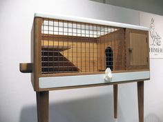 Sophisticated rabbit hutch for your modern friend, designed by Chimere. #salonedelmobile #milan2012