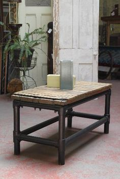 Anything from reclaimed wood or repurposed materials! This is a beauty from Crescent Moon Antiques & Salvage in Oshkosh.