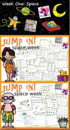 Jump In! To Summer Learning–Space Theme - Daily Free Printables from Royal Baloo http://royalbaloo.com/jump-in-to-summer-learningspace-theme/ and 3 Dinosaurs http://3dinosaurs.com/wordpress/index.php/jump-in-to-summer-learning-space-week-1/