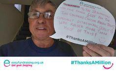 #ThanksAMillion #Fundraising #Charity #Giving