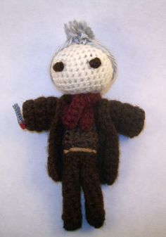BBC Doctor Who's War Doctor Crochet Doll by PaintsAndNeedles