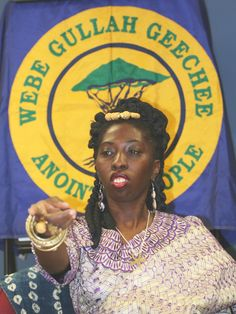 This is a photo of Queen Quet, she is the first elected Chieftess and Head-of-State for the Gullah/Geechee Nation.
