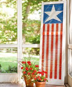 American Flag Shutter