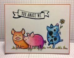 Creative Crew Color Challenge SU This Little Piggy