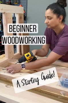 Wood Projects For Beginners, Beginner Woodworking Projects, Woodworking Guide, Wood Working For Beginners, Woodworking Techniques, Diy Wood Projects, Woodworking Crafts, Easy Projects, Wood Crafts