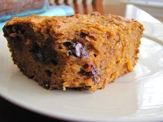 Easy Peasy: Paleo (Flourless) Sweet Potato Bread1 1/2cup almond butter  2 eggs1 1/2cups mashed sweet potatoes  2Tbsp maple syrup or honey  1/4cup unsweetened applesauce (Check out my applesauce recipe and it has cinnamon in it already!)  1 1/2tsp baking soda  1/4tsp cinnamon  1/4cup dark chocolate chips