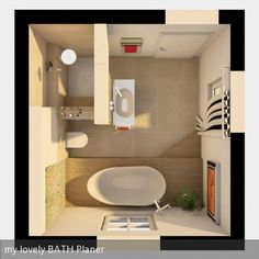 Small restroom suggestions to maximize your little space. Although with a tiny size we will certainly create an atmosphere that really feels bigger than it really is. Below's the concept of maximizing a tiny. Family Bathroom, Modern Bathroom, Master Bathroom, Bad Inspiration, Bathroom Inspiration, Diy Interior, Bathroom Interior Design, Small Bathroom Renovations, Bathroom Floor Plans