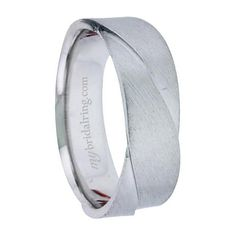 Brush Finish Unique Design Engagement Band - OUR PRICE: $859.99 - http://www.mybridalring.com/Mens/brush-finish-unique-design-engagement-band/