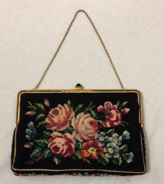 Vintage Jolles Petit Point Handbag
