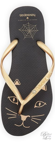 Brilliant Luxury * Charlotte Olympia Kitty Havaianas Rubber Flip Flop
