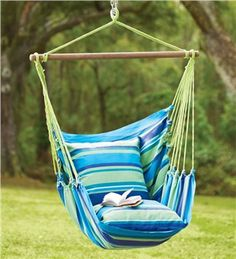 Sorbus 174 Blue Hanging Rope Hammock Chair Swing Seat For Any
