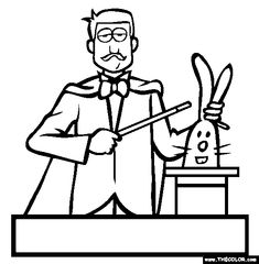 magician coloring page free magician online coloring