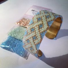 Bracelet perles tissées miyuki