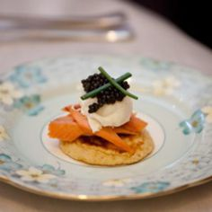 Uda Watte smoked Rainbow Trout, Caviar, Soft-Poached Quail Eggs, Chive Flower   #Dilmah  #Recipe