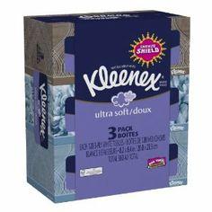 Kleenex Ultra Facial Tissue Regular (3 boxes)  Order at http://www.amazon.com/Kleenex-Ultra-Facial-Tissue-Regular/dp/B008EIY8P8/ref=zg_bs_15342811_37?tag=bestmacros-20