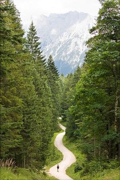 Hiking trail in Mittenwald, Germany