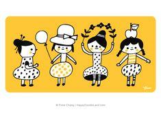 Doodle Girls Flora Chang, Happy Doodle Land