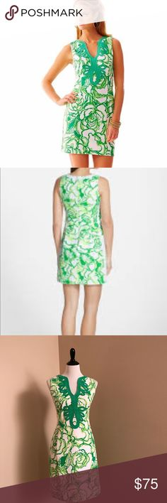 Lilly Pulitzer XL Janice Green Shift Dress✨ EUC Gorgeous Lilly Pulitzer Janice Green Floral Shift Dress. Very pretty dress for any occasion! 🌷 Excellent Like New Condition! Originally $188. Beautiful Green Embroidered Design. 🌷 Lilly Pulitzer Dresses Asymmetrical