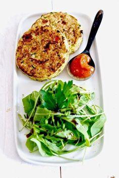 SANS GLUTEN SANS LACTOSE: Galettes de quinoa aux légumes sans gluten et sans...